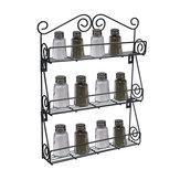 Support à bouteilles de cuisine à 3 niveaux, porte-pots, étagère de rangement, organisateur, montage mural