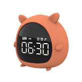 Little Elf Alarm Relógio Digital LED Tabela de alarme Relógio Snooze Countdown Rechargeable Cartoon Relógio