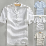 Men's Short Sleeve Casual Loose V Neck Cotton Tee Top Beach Leisure T Shirt Tees