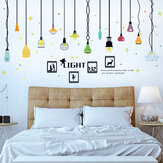 Miico SK9344 Colorful Chandelier Home Decorative Wall Sticker DIY Stickers Removable Sticker