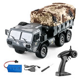 Eachine EAT01 1/16 RC Military Truck 2.4G 6WD RC Army Truck with LED Light Full Proportion All Terrains RC Military Vehicles RTR Heavy Off Road Crawler for Adults and Kids