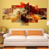 Новый 5 Шт. Звездных Кластеров Абстрактного Искусства Картины Распечатать Изображение Масло Холст Home Decor