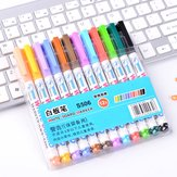12pcs Mixed Colour White Board Bright Marker Pen Set Fine bullet Tip Pens Easy Dry Wipe Stationery Painting Supplies