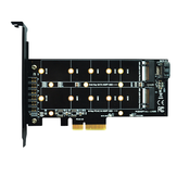 ITHOO PCENGFF-N05 Carte d'extension PCI-E 4X vers M.2 clé Interface M + B Carte d'extension NVME M.2 SSD PCI-E 10 Gbps pour ordinateur de bureau