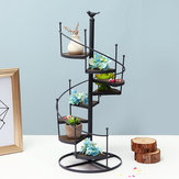 Espiral Planta Stand Iron Flower Pot Pot Prateleira Rack Display Garden Decor