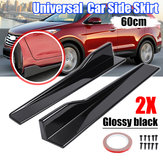 2 X Universal Car Glossy Black Side Skirt Rocker Splitters Canard Diffuser Winglet Wing