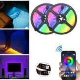 DC5V Non-waterproof 0.5m 2m 3m 5m 5050 bluetooth APP Control RGB USB LED Strip Light KTV Hotel Home Decor Christmas Decorations Clearance Christmas Lights