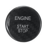 メルセデスベンツに適合するカーボンファイバー製カーステッカー付きスタートストッププッシュボタン