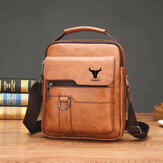 Ekphero Men Faux Leather vendimia Business Bolsa Messenger Bolsa Crossbody Bolsa Office Work