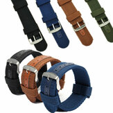 18/20/22 / 24mm Waterdichte horlogeband Heren Militair Nylon Canvas Polsband Armband Vervanging