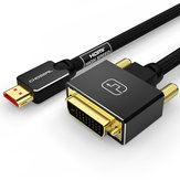 CHOSEAL HDMI naar DVI-kabel DVI 24 + 1-pins adapter 4K 1080P Bidirectionele DVI D Male naar HDMI Male Converter kabel HDMI-kabel voor LCD DVD HDTV