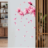 Miico FX64039 Perzikbloem Home Decoratieve Sticker Muursticker DIY Sticker