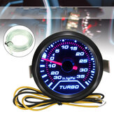 Uniwersalny manometr 52 mm 2 Turbo LED Turbo Boost Smoked Dials Psi