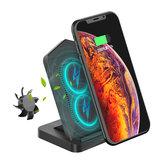 Desktop Type-C Bobinas duplas Carregador sem fio de 10 W com ventilador de refrigeração para Smart Phone habilitado para Qi para iPhone 11 para Samsung Galaxy Note 10