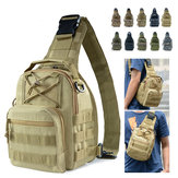 10L Men Outdoor Tactical Molle Backpack Assault Sling Bag Chest Shoulder Pack Camping Hiking