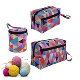 Kokoh Portabel Premium Benang Penyimpanan Tote Crocheting Persediaan Organizer Tas Penyimpanan Kain Alat