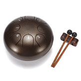 HLURU 6 Polegadas 8 Notas G Tune Steel Tongue Drum Handpan Instrument com Drum Marretas e Bolsa