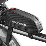 ROCKBROSバイクフロントフレームバッグ防水アンチプレッシャーショックプルーフバイクバッグサイクリングバッグ