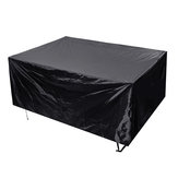 242x162x100cm Pathonor Garden Furniture Cover 420D Heavy Duty Oxford Fabric Windproof Waterproof Anti-AV Cube Outdoor Patio Table Cover