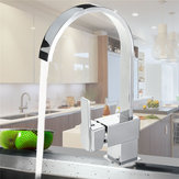 Modern Chrome Brass Kitchen Faucet Swivels Spout Single Handle Basin Mixer