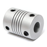 5pcs 5mm x 8mm Aluminum Flexible Shaft Coupling OD19mm x L25mm CNC Stepper Motor Coupler Connector