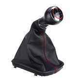 5 Speed Gear Shift Knob with Boot Cover for Audi A3 A4 A6 A8