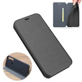 For Xiaomi Redmi Note 8 Case Bakeey Flip with Stand Card Slot Full Body Brushed Leather Shockproof Soft Protective Case