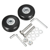 2 Sets Luggage Suitcase Replacement Wheels OD 43 ID 6 W 18 Axles 30 Repair Tools