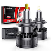 AUDEW 360 Degree H7 LED Car Headlights Bulbs 50W 8000LM IP68 Waterproof 6000K White 2PCS