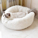 Donut Plush Small Dog Cat Beds Warm Soft Pet House Nest
