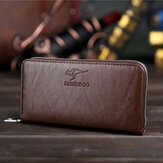 Men Faux Leather Business Clutches Bag Phone Bag Wallet