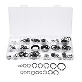 225Pcs C-Clip Snap C-type Circlip Kit External Retaining Ring Assortment Set Black