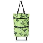 Oxford Katlanır Alışveriş Sepeti Çanta Arabası Dolly Handcart Market Outdoor Depolama Çanta