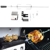 4W Stainless Steel Rotisserie BBQ Grill Roaster Spit Rod BBQ Tools Set Camping Charcoal Kits