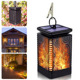 12 LED Waterproof Flickering Flame Lamp Solar Torch Light Yard Garden Lanterns