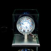 1: 1 Escala MK1 Núcleo ensamblado DIY Tony Arc Reactor LED Lámpara Kit con cubierta de soporte Pantalla
