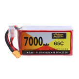 ZOP Power 11.1V 7000mAh 65C 3S Lipo Battery XT60 Plug for Hubsan X4 Pro FPV Quadcopter