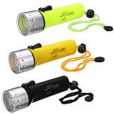 Subaquática LED Lanterna de mergulho Luz de mergulho AA Mini Torch