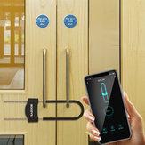 BOZZYS U3 Vingerafdruk U-vorm Slot Smart Bluetooth App Controle Glazen deurslot voor Winkel Bedrijf Dubbele Deur Antidiefstal sloten