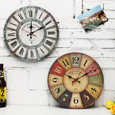 Vintage Round 12 Inch Wall Hanging Clock Hotel Home Living Room DIY Modern Decor