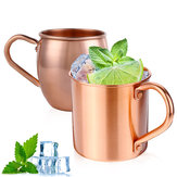 Copo de caneca de cobre puro para Moscow Mule Coffee Drink Cocktail Camping 415ML