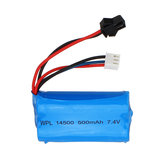 WPL aggiornato 7.4V 500mAh 2S Li-ipn Batteria per veicoli RC con controllo proporzionale completo B36 B24 1/16
