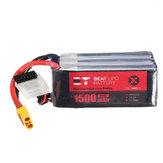 BT 22.2V 1500mAh 95C 6S Lipo Batteria XT60 Spina per RC Racing Drone
