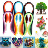 600 Strip 30 Warna Campuran Quilling Paper Art Origami Papercraft DIY Craft