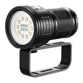 10xXML2LanternadeMergulho100-200m Vídeo Subaquático de Filmagem LED Fill Light