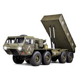 HG P803A Upgraded Light Sound 1/12 2.4G 8X8 EP RC Car for US Army Military Truck 5KG Ładowność bez ładowarki