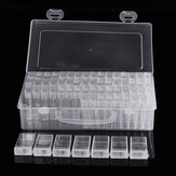 64 Grid Diamond Embroidery Schilderen Nail Art Accessoire Display Box Opbergdoos