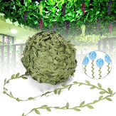 40-200m Artificial Green Ivy Vine Leaf Garland Rattan Foliage Home Wedding Decorations