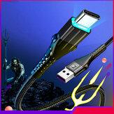 Contracción 3A LED Indicador Carga rápida Nylon Trenzado Type-C Cable de datos para Samsung S10 HUAWEI P30 Xiaomi 9T Redmi LG