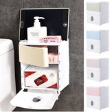 Kamar mandi Toilet Pemegang Kertas Tissue Kitchen Wall Mounted Storage Organizer Box